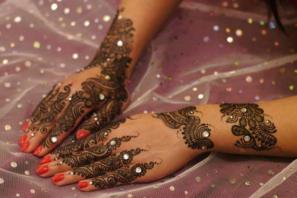 Simple Eid Mehndi Designs 2013 : Glitter mehndi designs beauty tips hennas