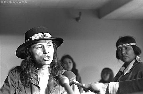 A young John Trudell, spokesman for the AIM Movement in the 1960s and 1970s.