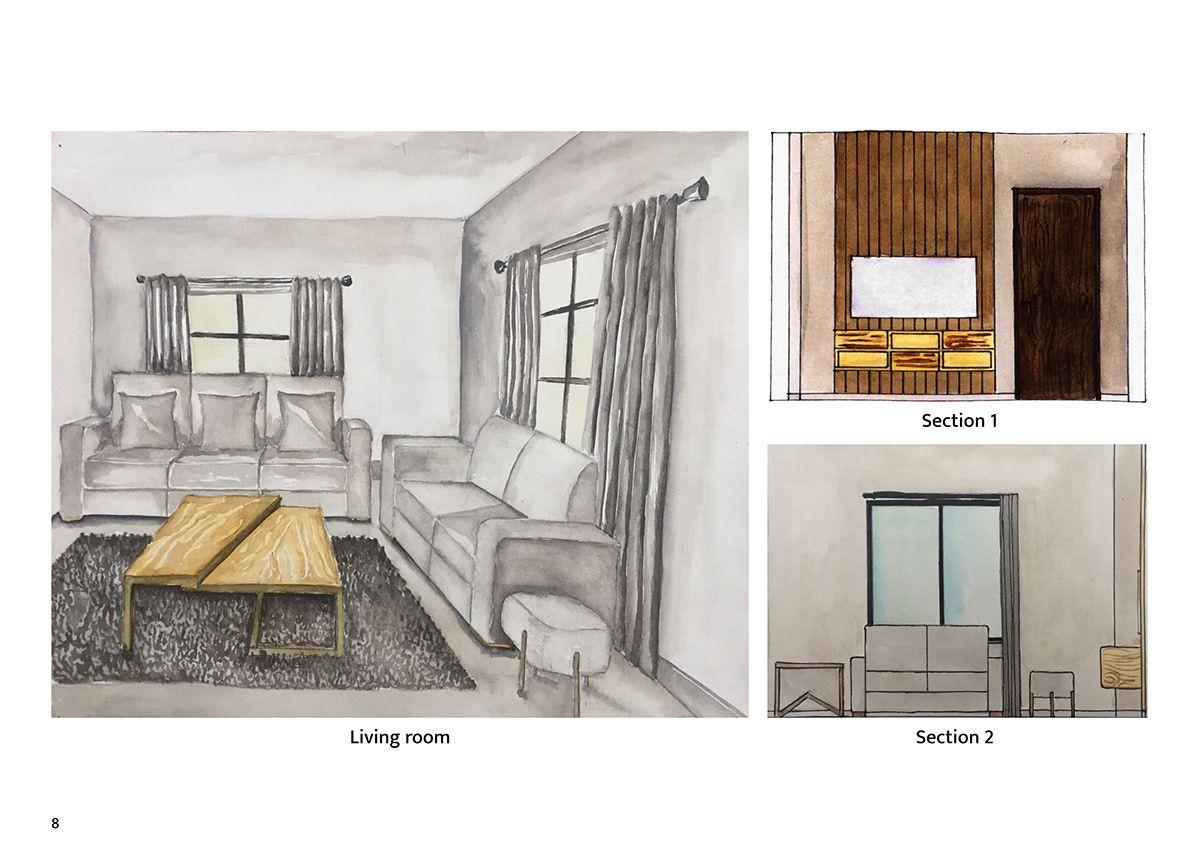 Interior Design Portfolio On Behance In 2020 Portfolio Design