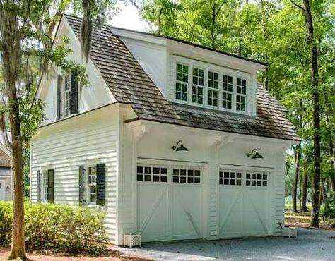 Consider Dormer Windows Over Garage Doors Would Like Relationship With Other Dormer Over Front Entrance House Exterior Big Sheds Carriage House Garage