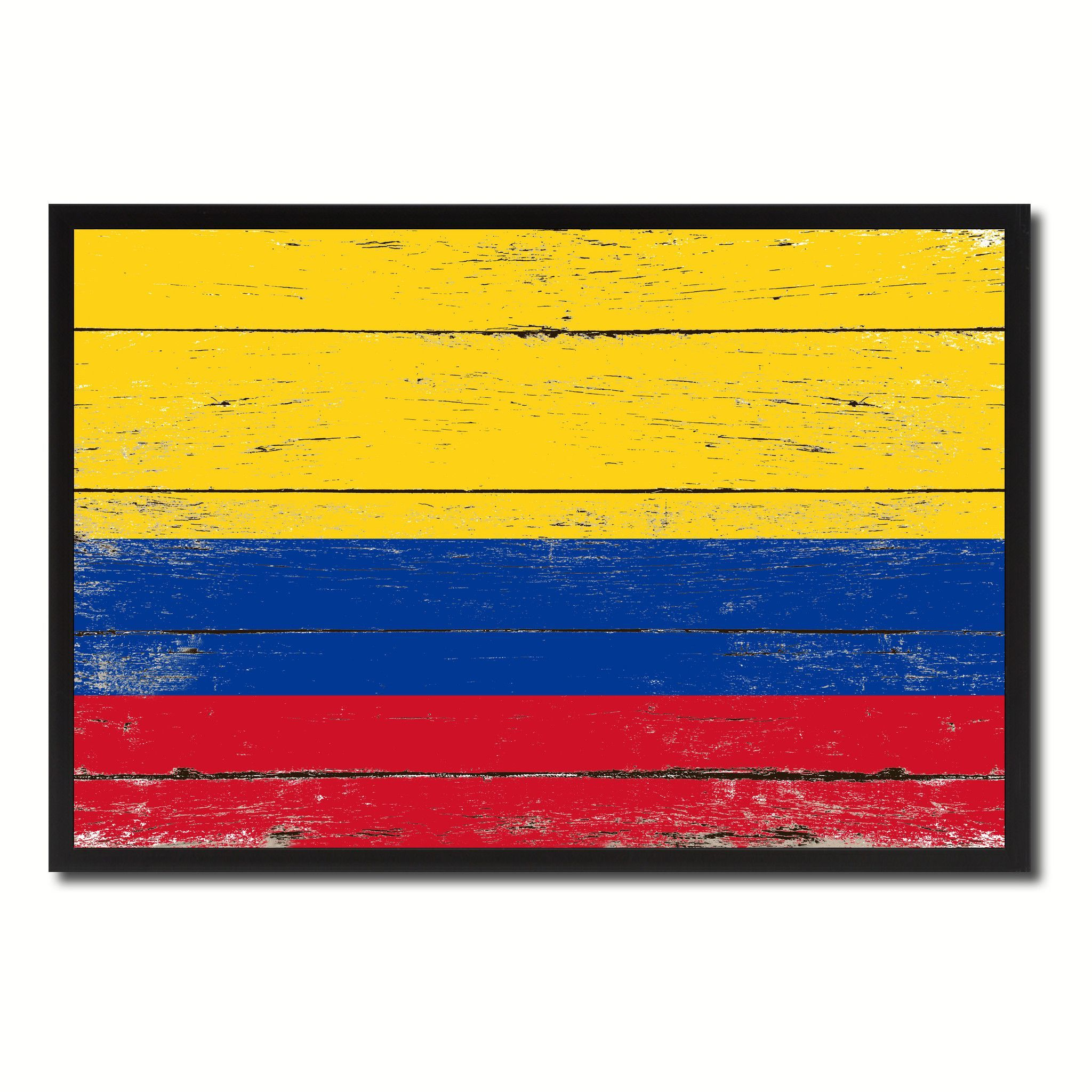 Colombia Country National Flag Vintage Canvas Print with Picture ...