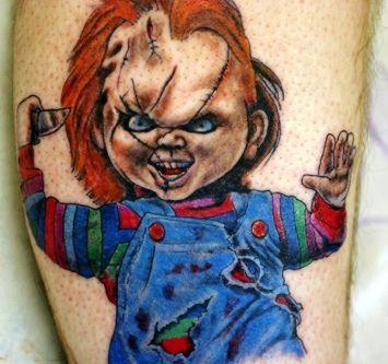 Tatuagens inspiradas em filmes 8 chucky tattoos for Bride of chucky tattoo