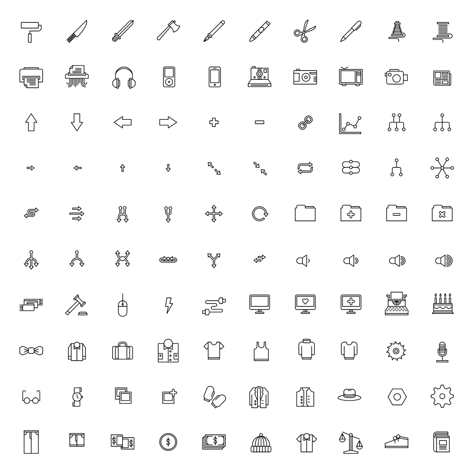 Image of Monicons 2 - Set of 100 icons