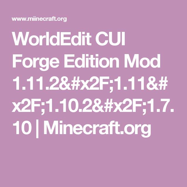worldedit 1.11.2 mod