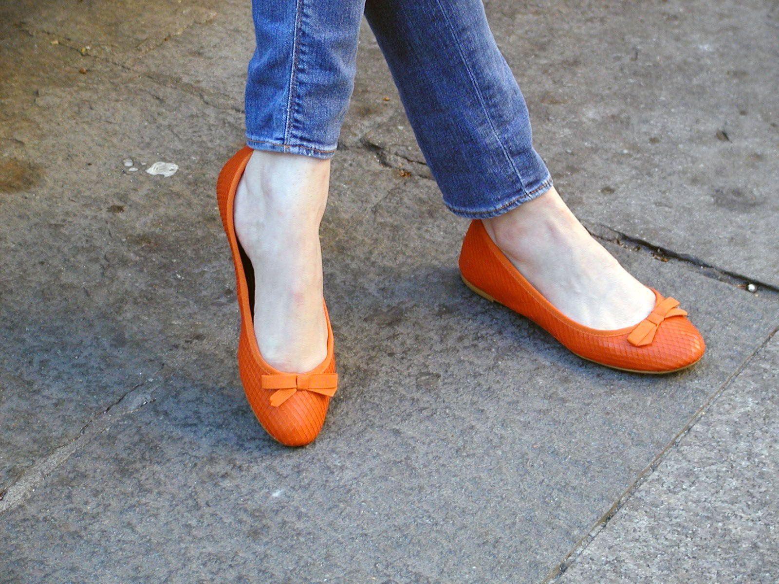 chic orange shoes