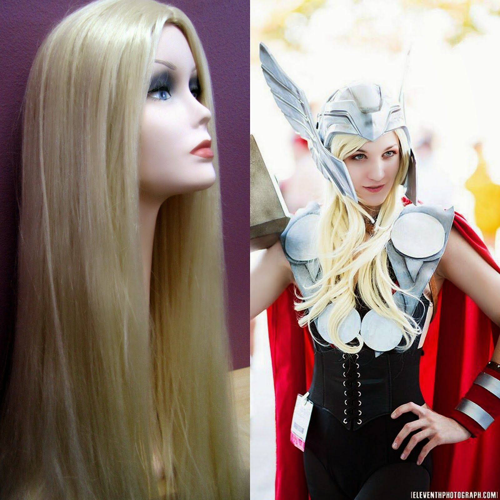 Super long blonde hair makes the perfect Lady Thor costume ...