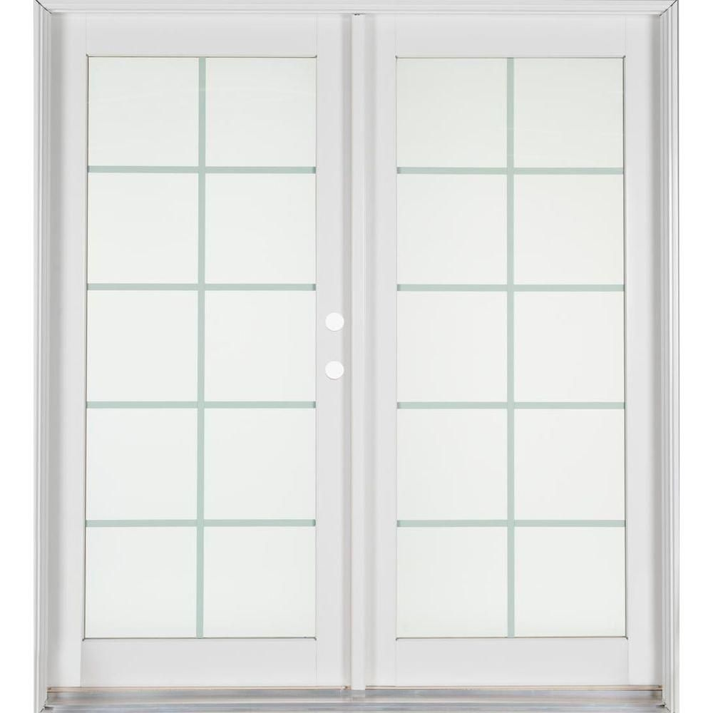 Ashworth Professional Series 72 in. x 80 in. White Aluminum/Wood French Patio Door-PRO6068PS10LTIWBRS at The Home Depot