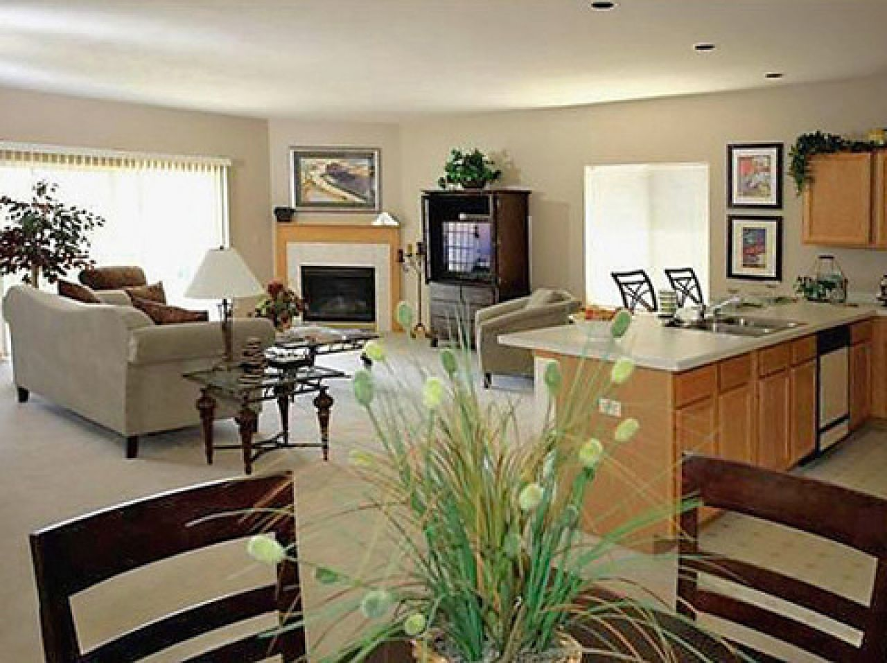 Open Concept Living Room Decorating Open Kitchen Living Room Designs Wide Px 1024x600 1280x720