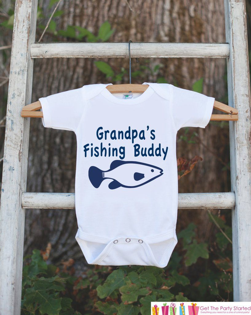 Grandpa\'s Fishing Buddy Onepiece Outfit - Father\'s Day Gift ...