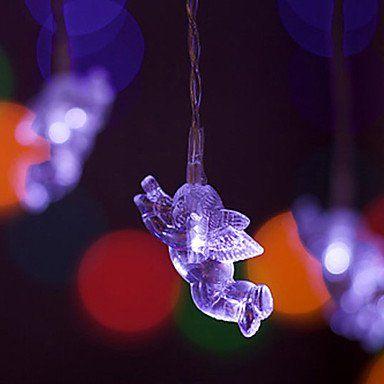 Weihnachtsbeleuchtung Engel.Gag Lichterketten Engel Weiß 1m Led String Lichter 40 Led