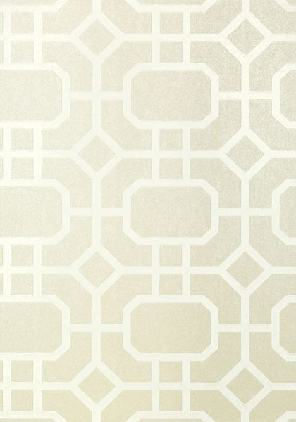 PORTIER FLOCK, White on Pearl, T11000, Collection Geometric Resource 2 from Thibaut
