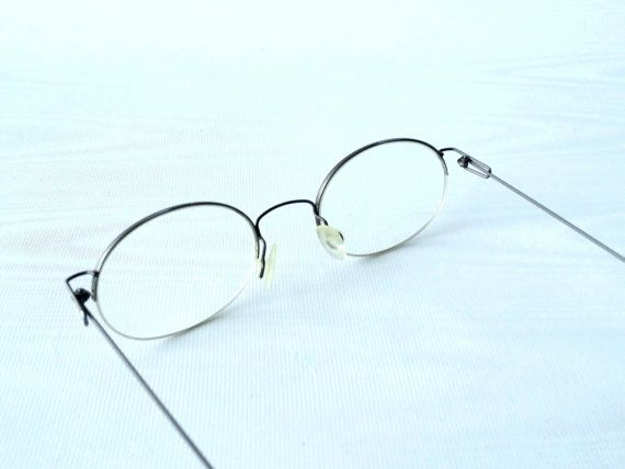 thin wire 90s oval eyeglass frames titanium thin wire by revivalwarehaus