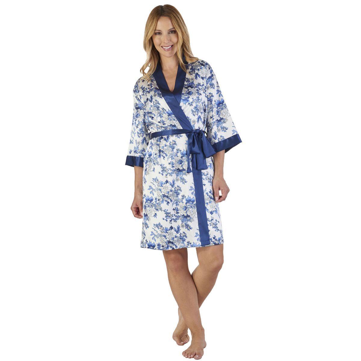 Robe De Chambre Imprime Floral Robe Robe De Chambre Et Robe Kimono