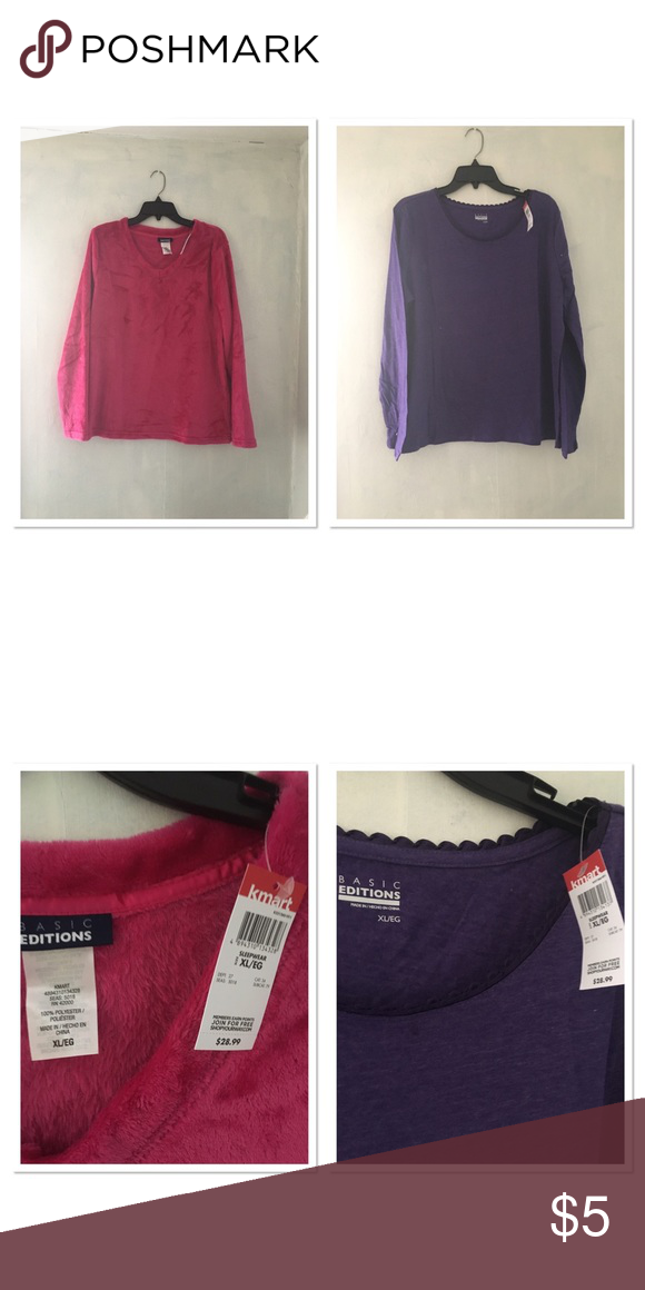 c53cdece9e Bundle  2 Nwt pajama tops Pink one is super soft the purple is cotton  material