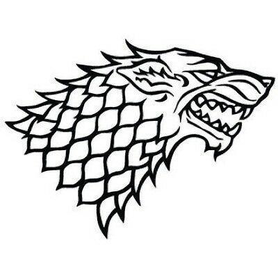 HOUSE STARK DIREWOLF GAME OF THRONES DECAL VINYL CAR LAPTOP WINDOW WALL STICKER ...#car #decal #direwolf #game #house #laptop #stark #sticker #thrones #vinyl #wall #window