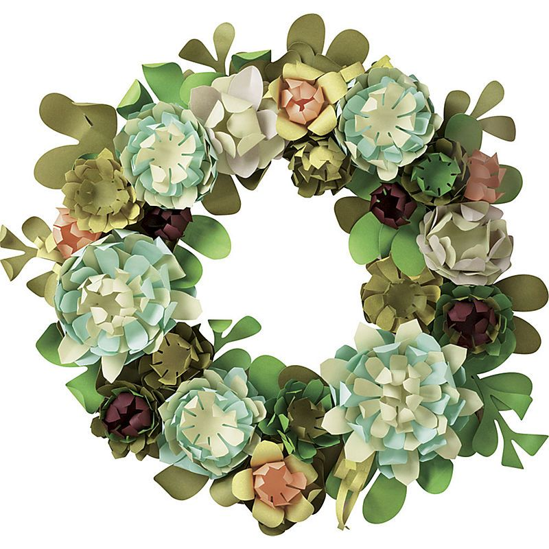 Succulent Wreath From Paper Source Cactus Pinterest Wreaths