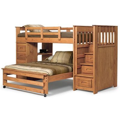 Best Twin Over Full Staircase Bunk Chelsea Home Twin Over 640 x 480