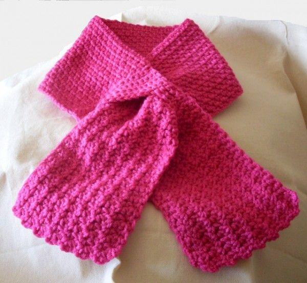 keyhole scarf free crochet pattern   Crochet Scarves   Pinterest ...