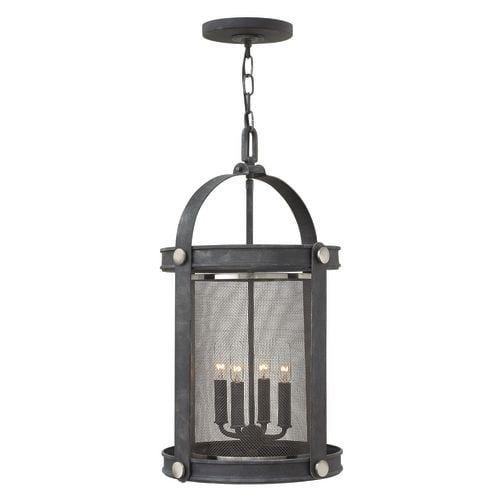 Hinkley lighting 3942 4 light indoor lantern pendant from the holden collection buckeye bronze