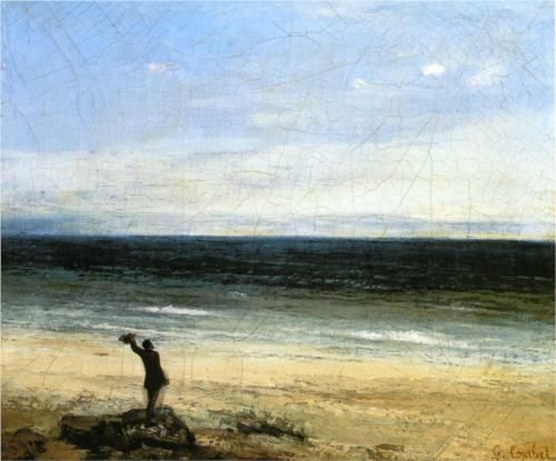 The Beach at Palavas - Gustave Courbet, 1854