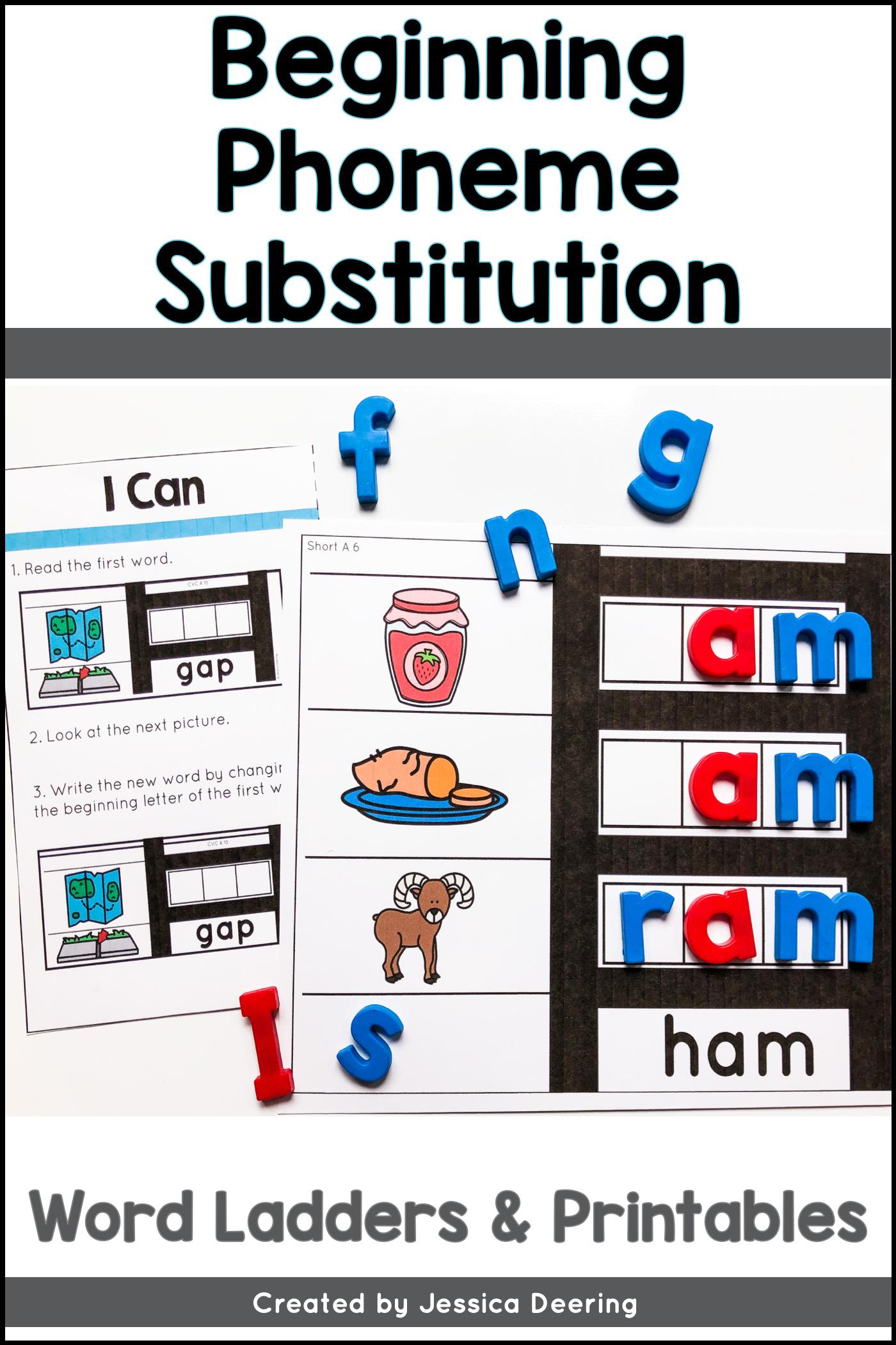 Phoneme Substitution Activities Change A Beginning Sound Phoneme Substitution Activities Phonemic Awareness Activities Phonemic Awareness Skills [ 2100 x 1400 Pixel ]