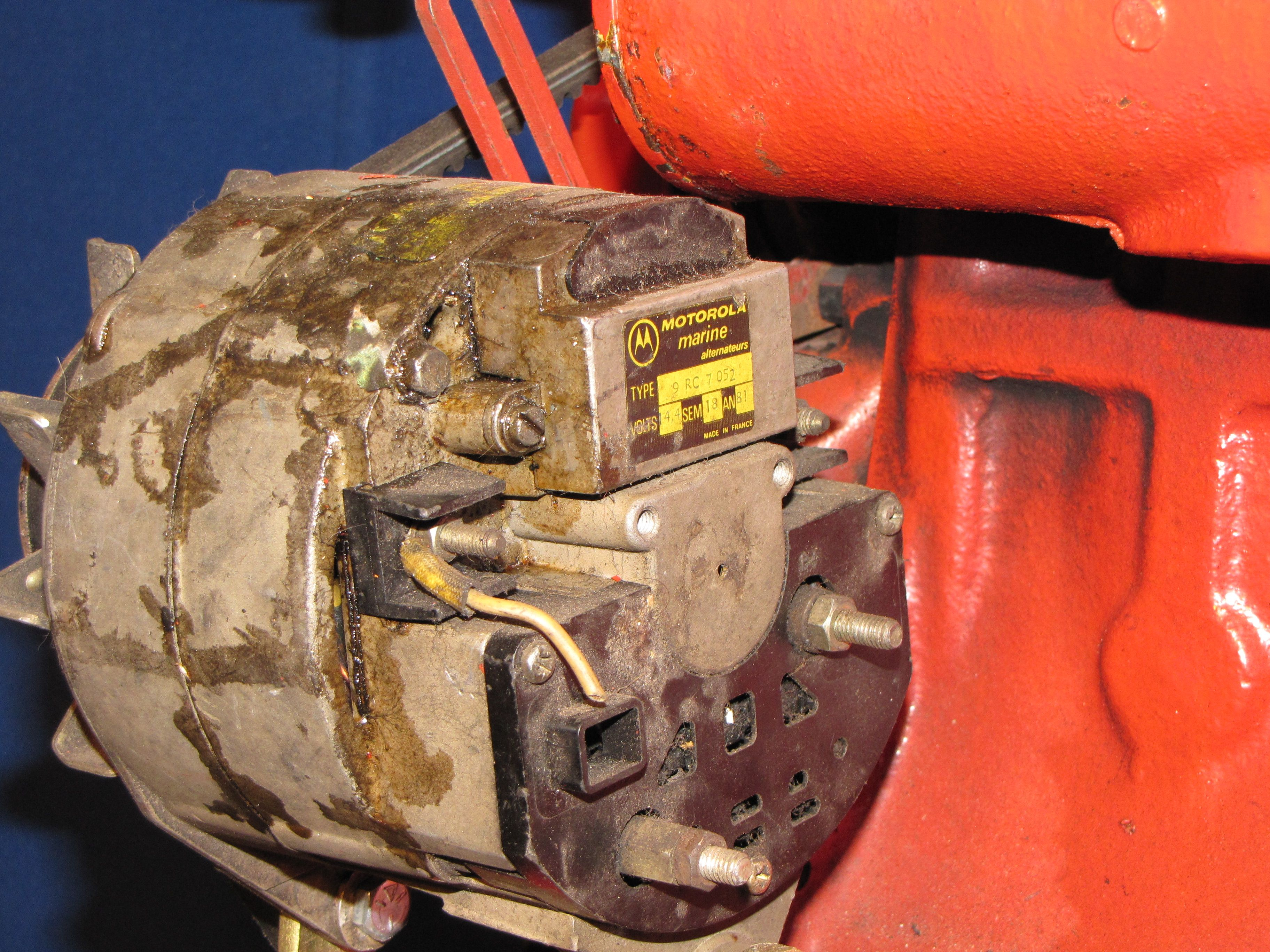 Lehman alternator amp fitted to all sp super power series lehman diesels wiring varies based on manufacturer french motorola shown