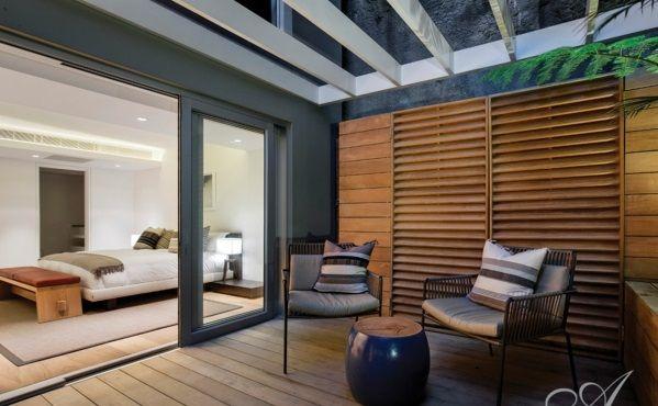 design tipps möbel garnitur terrasse holz sichtschutz   Balkon ...