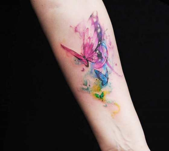 Butterflies Tattoo By Versus Ink Watercolor Butterfly Tattoo