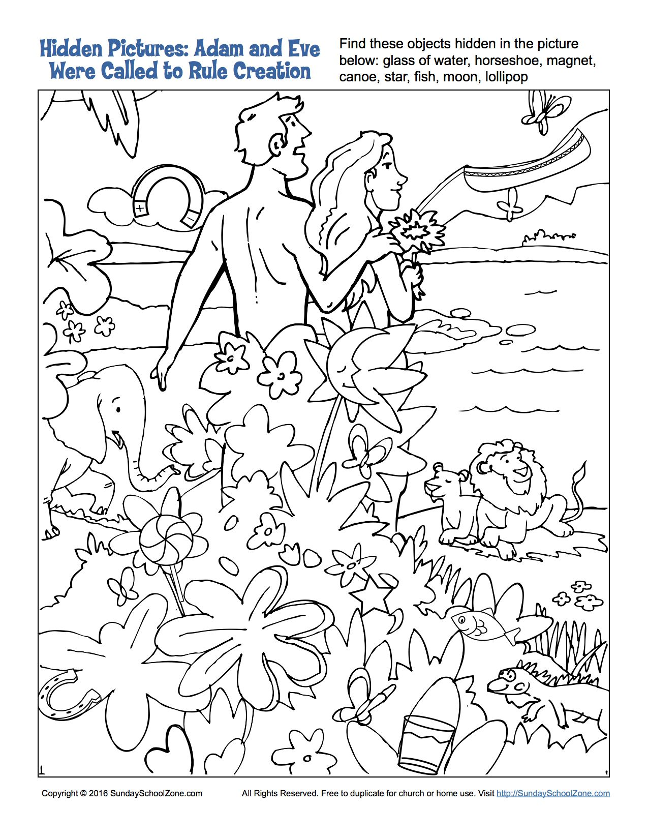 Adam And Eve Were Called To Rule Hidden Pictures Sunday School