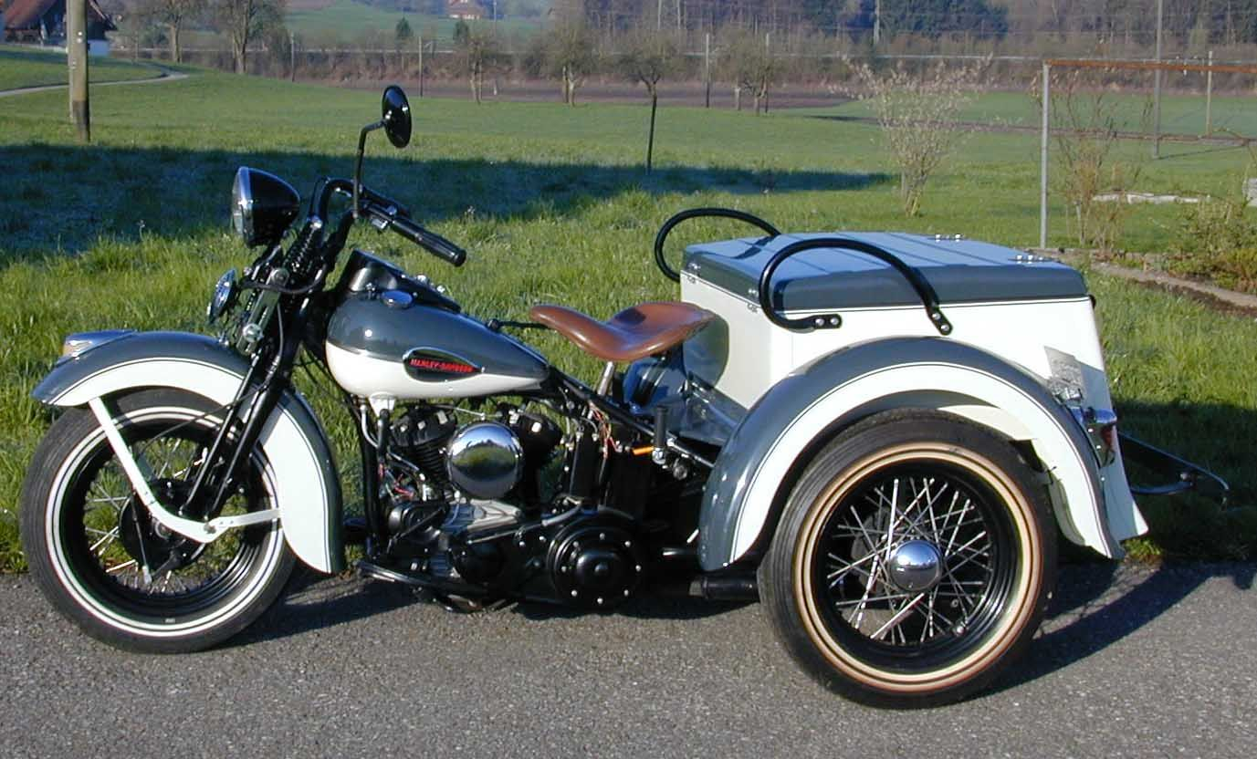 1942 Harley Davidson Servicar Type G 138 Of These Were Produced In 1942 This Machine Has 2 Harley Davidson Motorrader Vintage Harley Davidson Harley Davidson