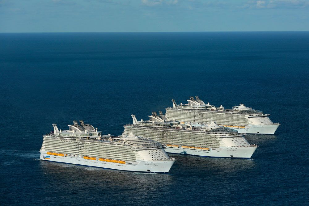 History Is Made As Of The Worlds Largest Cruise Ships Meetup - Biggest cruise ships in history