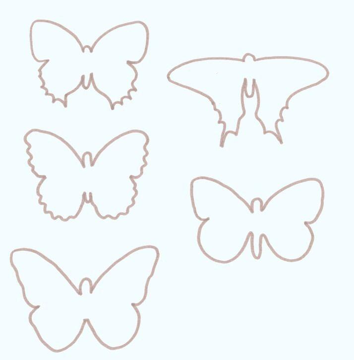 Charmant Schmetterling Schablone Vorlage Zeitgenössisch - Beispiel ...