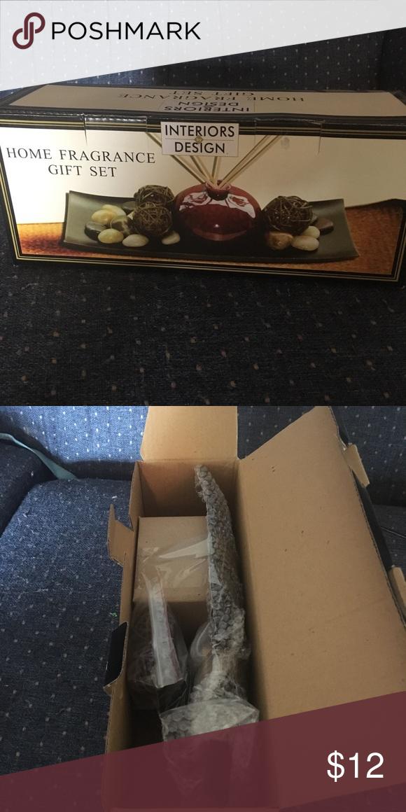 Home Fragrance Gift Set Includes Ceramic Vase Wooden Tray Rocks Sweet Orange Fragrance Oil Reeds And A Ratton Ba Home Fragrance Fragrance Gift Set Wooden Tray