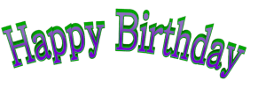 Birthday Words png   Cool Arched Happy Birthday 3d Text ...