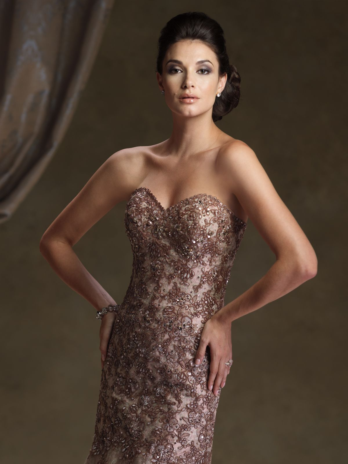 Twopiece tulle over lace dress set strapless sweetheart mermaid