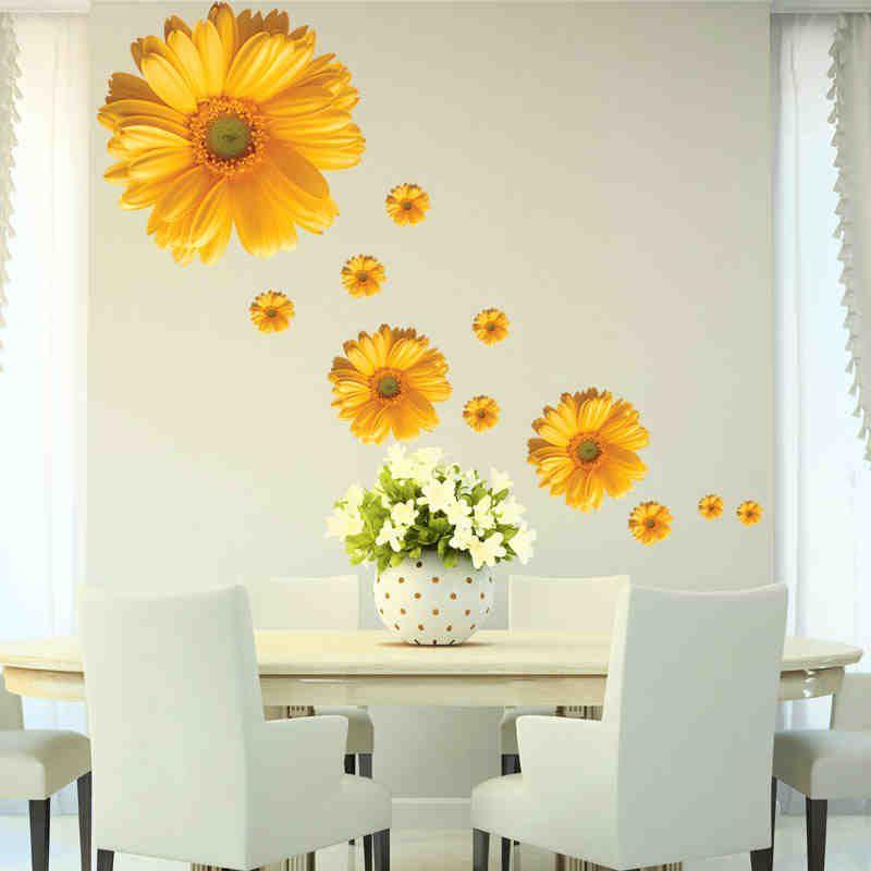 5 design small sakura flower wall stickers bedroom room on wall stickers for bedroom id=59292