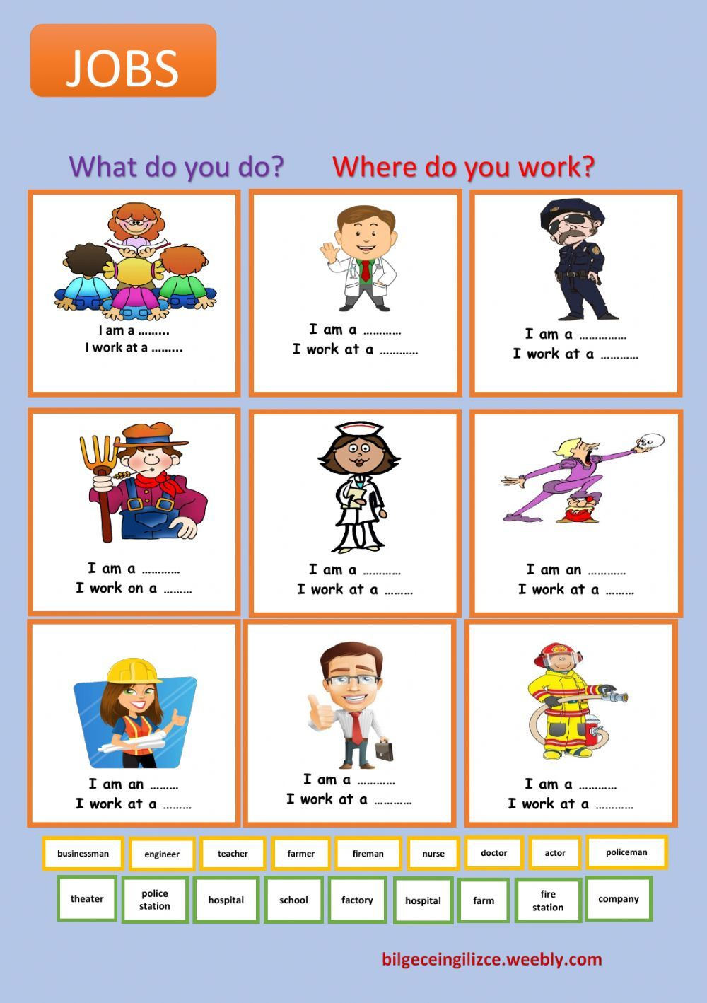 medium resolution of Jobs and occupations interactive and downloadable worksheet. Check your  answer…   Learning english for kids
