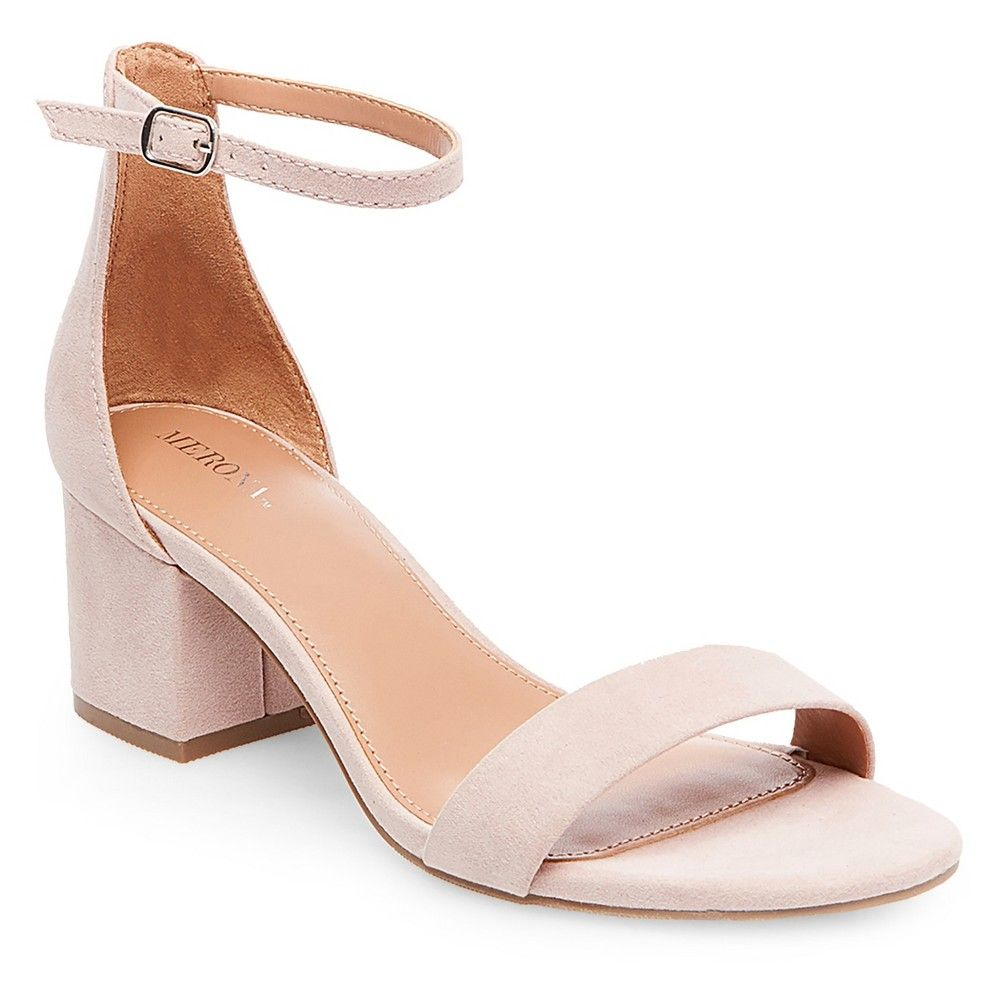 8efe96097eb4 Women s Marcella Low Block Heel Pumps with Ankle Straps - Blush 8.5 ...