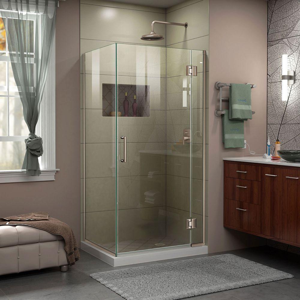 Unidoor X 30 3 8 Inch W X 34 Inch D X 72 Inch H Frameless Shower