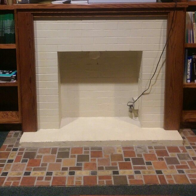 Fireplace in the basement if the Upland Carnegie Library, Downtown ...