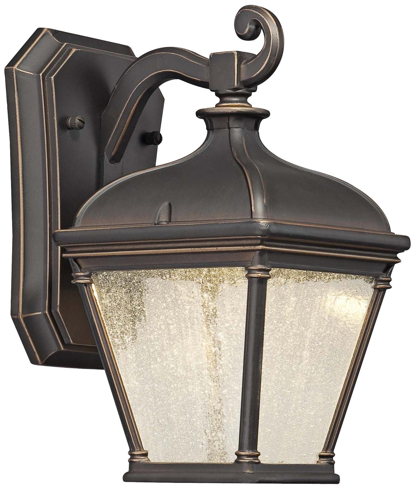 "Lauriston Manor 10"" High Bronze LED Outdoor Wall Light"