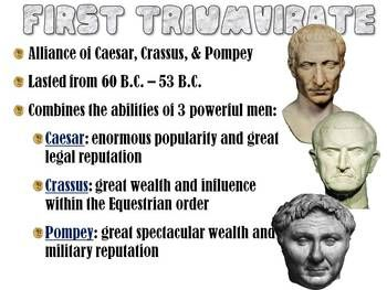 who was in the first triumvirate