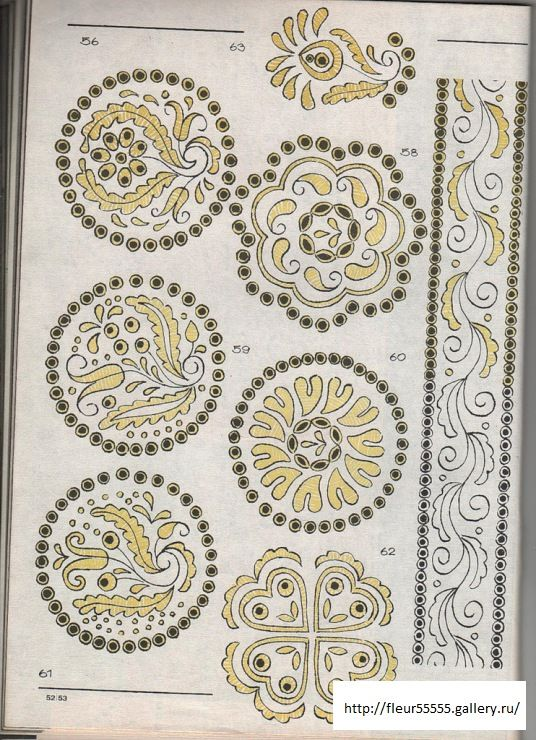 design from a Slovak(?) embroidery/lace-making pattern book (via a ...