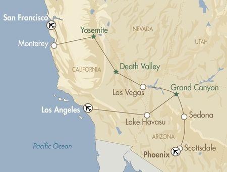 California Fly Drives Holidays City Breaks Las Vegas Grand Canyon California Holiday Holiday City