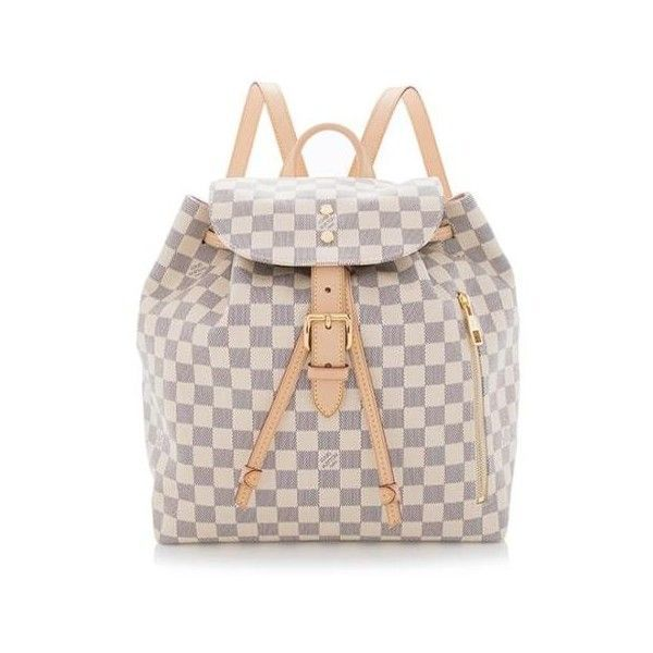 085e67eda1f Rental Louis Vuitton Damier Azur Sperone Backpack ($215) ❤ liked on ...