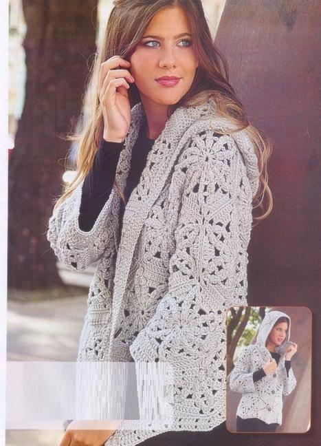 Chaqueta con Capucha Patron - Patrones Crochet | Crochet | Pinterest ...