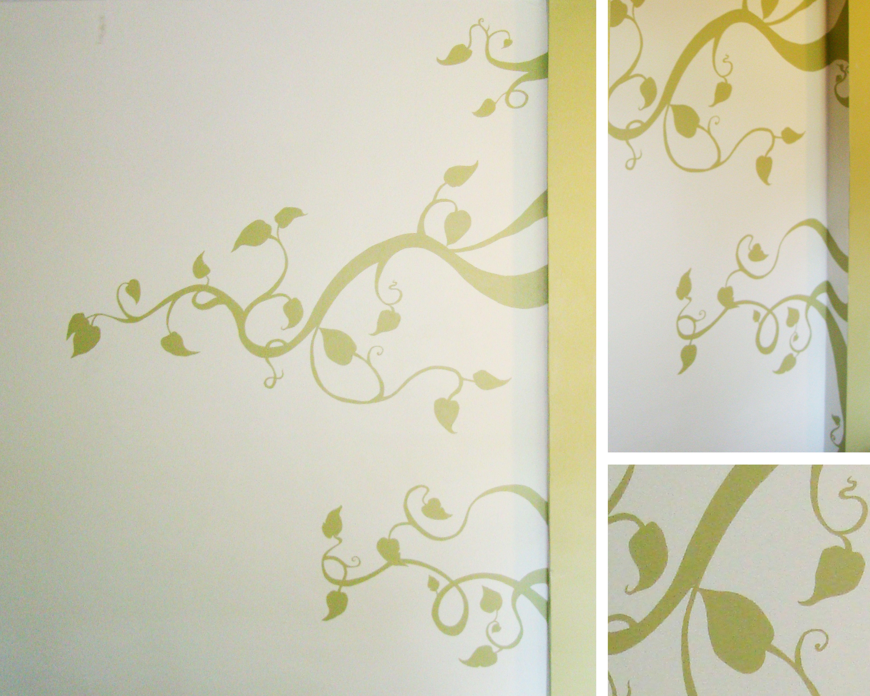 Painted Vine Design Mural Paint Designs Wall Murals