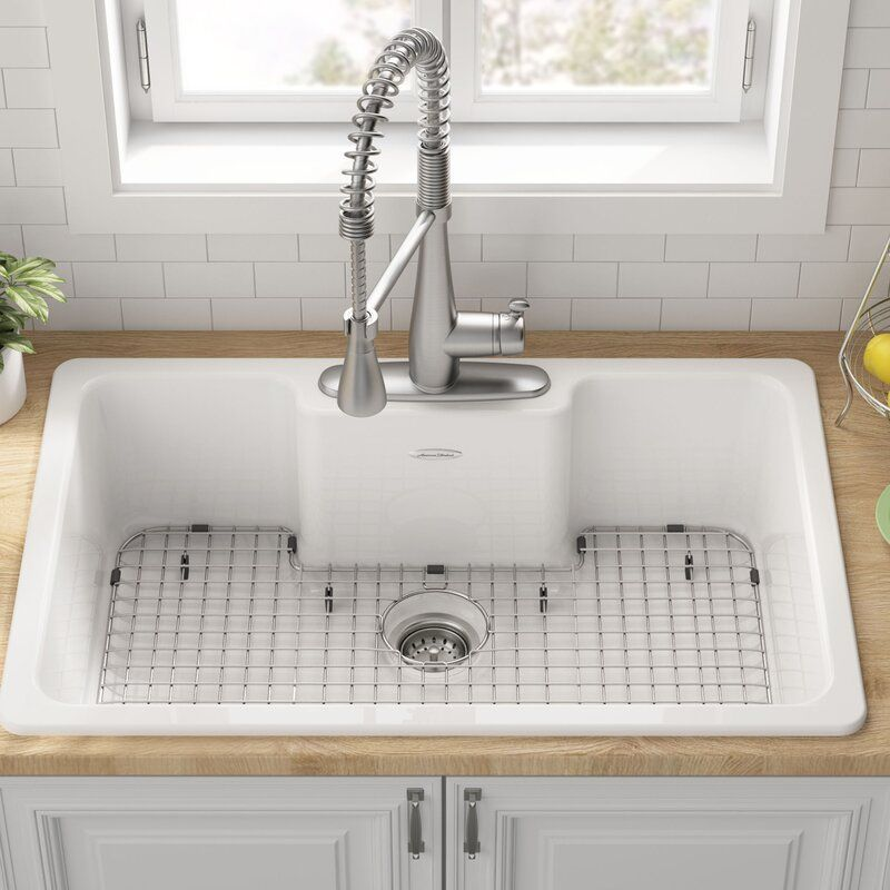 Quince 33 L X 22 W Drop In Kitchen Sink In 2020 Drop In Kitchen Sink Vintage Kitchen Sink Drop In Farmhouse Sink