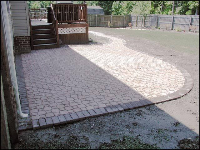 patio ideas with pavers residential interlocking paver patio retainer wall - Pavers Patio Ideas