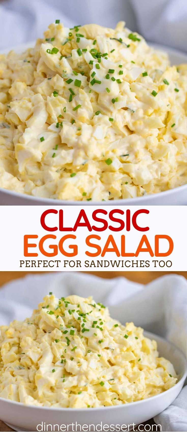 Classic Egg Salad is the PERFECT lunch, made with seasoned mayonnaise, mustard, ... - All The... Classic Egg Salad is the PERFECT lunch, made with seasoned mayonnaise, mustard, ... - All The Recipes - Dinner, then Dessert ,